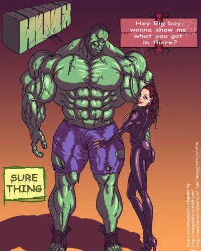 Mnogobatko Hulk vs Black Widow