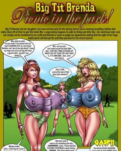 [Smudge] Big Tit Brenda - Picnic in the Park!