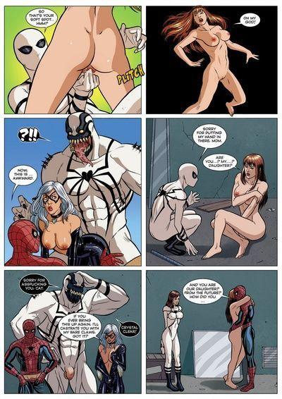 स्पाइडरमैन यौन सहजीवन 1 - हिस्सा 2