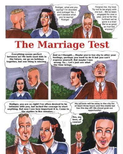 [Kurt Marasotti] The Marriage Test- From SexotiC-Comic #11 {ENG}