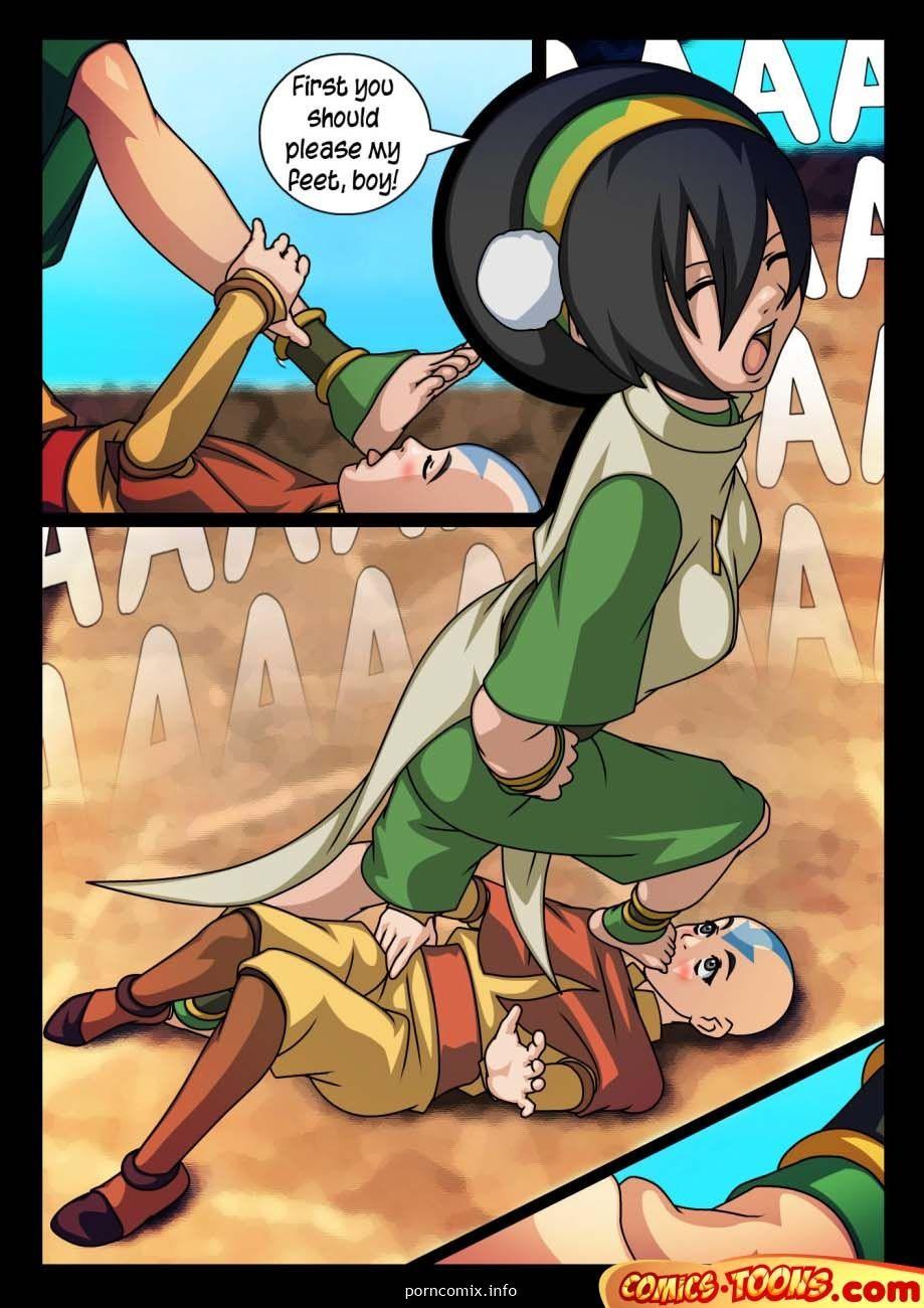 avatar footjob - Avatar last airbender foot fetish hentai comics