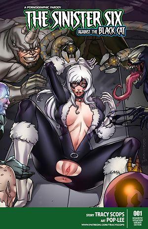 Tracy scops el siniestro Seis en contra de el Negro gato