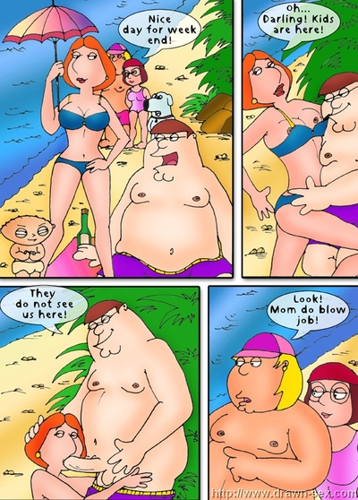Family Guy - Beach Play,Drawn Sex