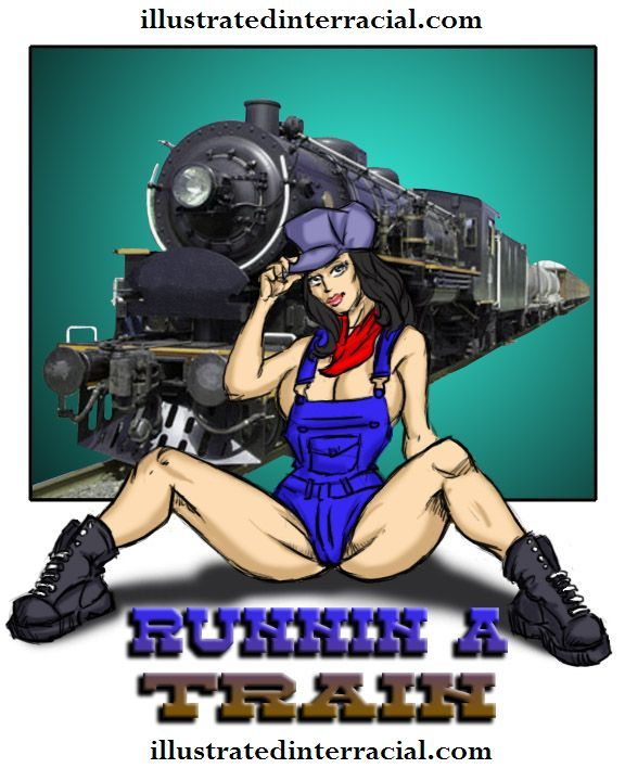 Runin A Train 1- illustrated interracial