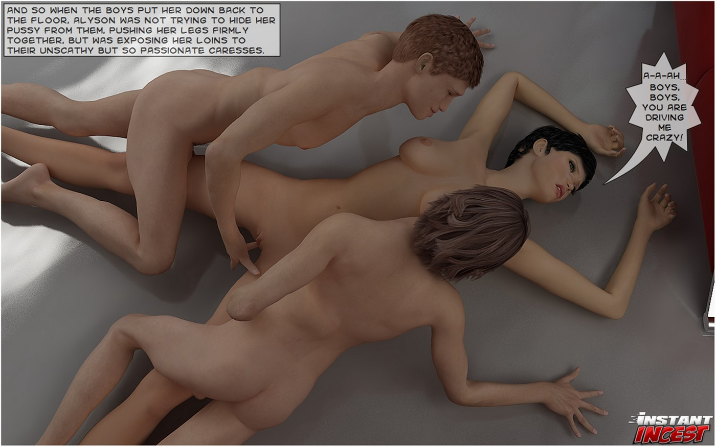 Sons seducing hot momma- Instant Incest - part 2