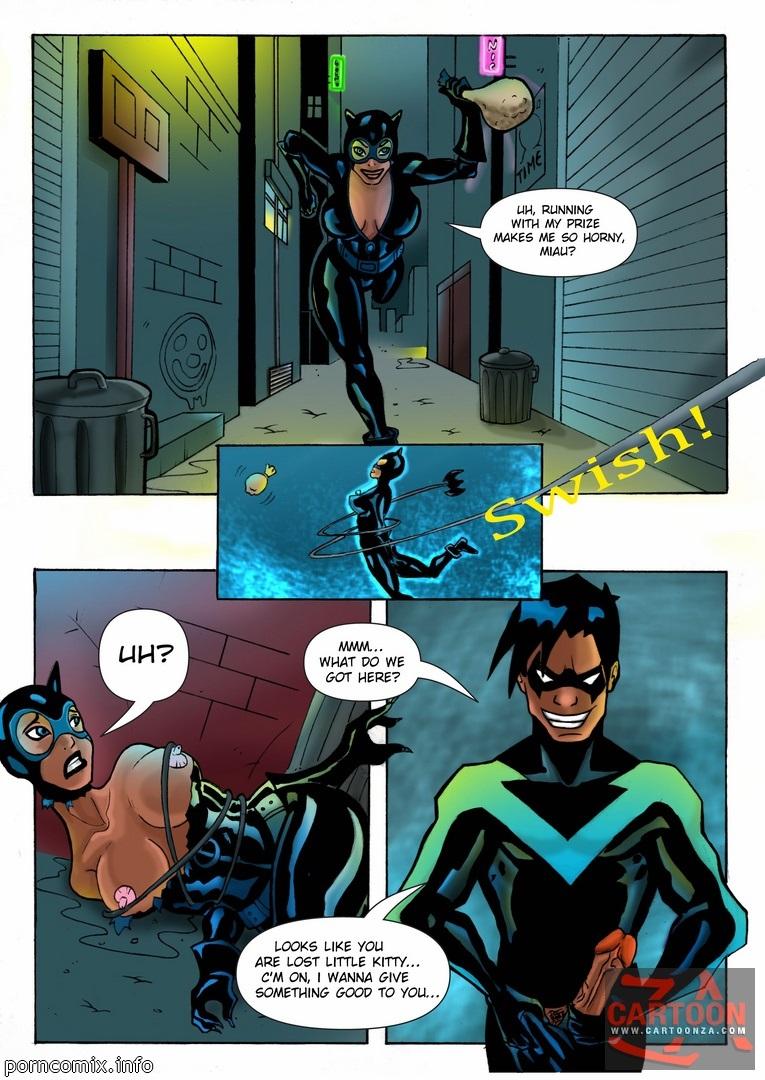 giustizia lega nightwing e catwoman