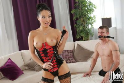 Asa Akira is doing the best blowjob to her new boyfriend