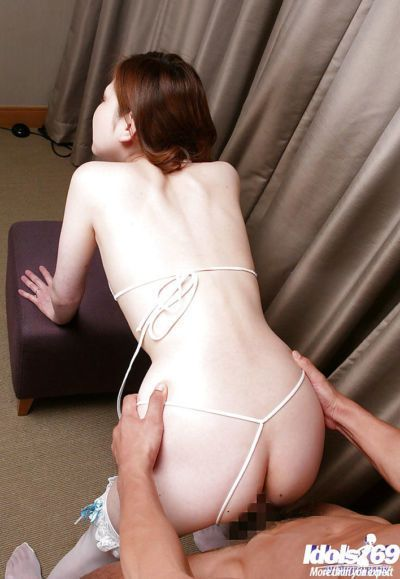 Lusty asian lady in lingerie and stockings gets fucked hardcore