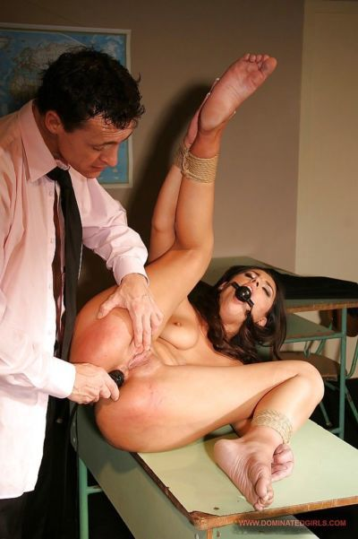Submissive schoolgirl gets involved into rough and kinky anal action - part 2