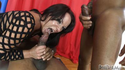 Slutty Lora B is fucked hard during interracial gangbang party - part 2